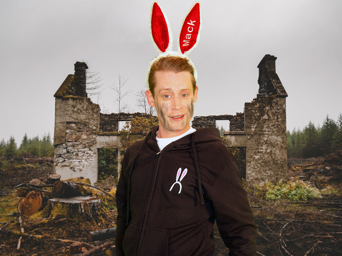 Macaulay Culkin is off on the farm